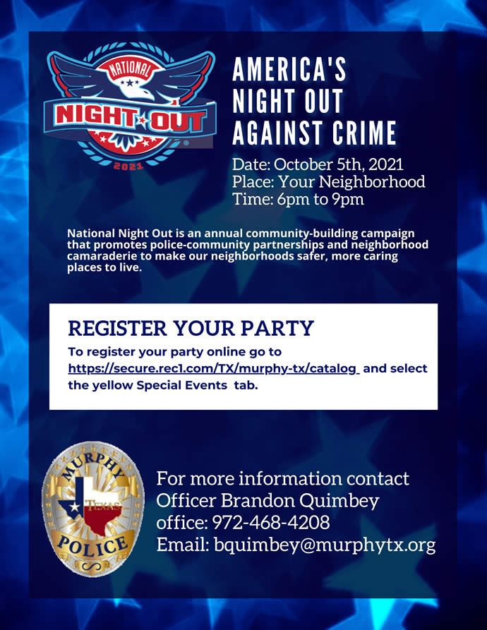 National Night Out   Murphy, TX - Official Website